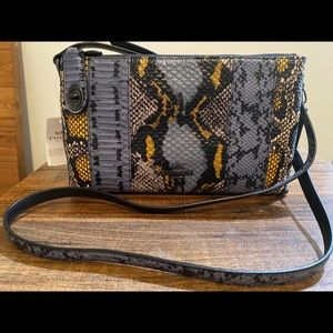 Coach Crossbody Snake-embossed Leather Purse